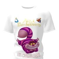 Camiseta Camisa Blusa Personalizada Alice no País das Maravilhas