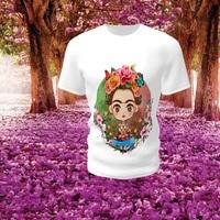 Camiseta Camisa Blusa Personalizada Frida Kahlo