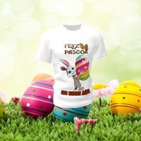 Camiseta Camisa Blusa Personalizada Feliz Páscoa