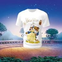 Camiseta Camisa Blusa Personalizada Disney A Bela e a Fera