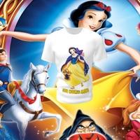 Camiseta Camisa Blusa Personalizada Disney Branca de Neve