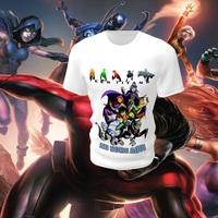 1124093c95 Camiseta Camisa Blusa Personalizada Jovens Titãs Teen Titans