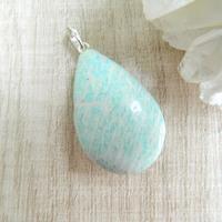 Pingente Pedra Amazonita Prata 950