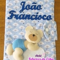 Capa caderneta vacinação urso dorminhoco