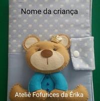 Capa caderneta vacinação urso Príncipe