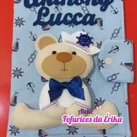 Capa caderneta vacinação urso marinheiro