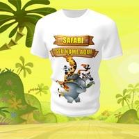 Camiseta Camisa Blusa Personalizada Safari Animal