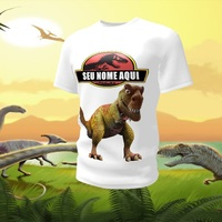 Camiseta Camisa Blusa Personalizada Dinossauro Jurassic Park