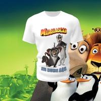 Camiseta Camisa Blusa Personalizada Madagascar