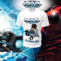 Camiseta Camisa Blusa Personalizada Infantil Max Steel