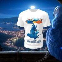 Camiseta Camisa Blusa Personalizada Infantil Blue Rio