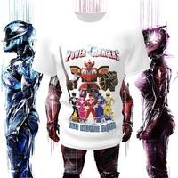Camiseta Camisa Blusa Personalizada Infantil Power Rangers