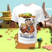 Camiseta Camisa Blusa Personalizada Infantil  Flintstones
