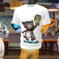 Camiseta Camisa Blusa Personalizada Infantil  Gato Talking Tom
